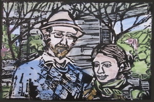 Two people in a Garden